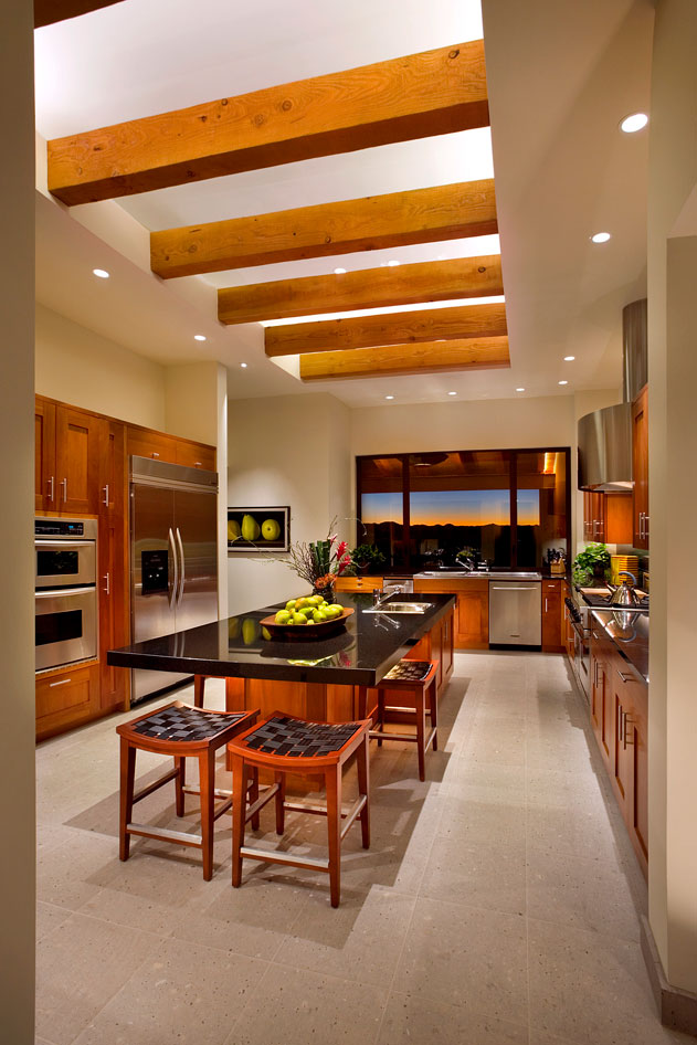 modern amenities in a new kitchen